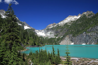 View of Blanca Lake Looking Toward Columbia Glacier