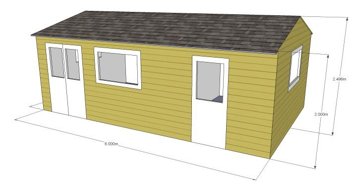 Cabin living bespoke garden offices cad software for Bespoke garden office