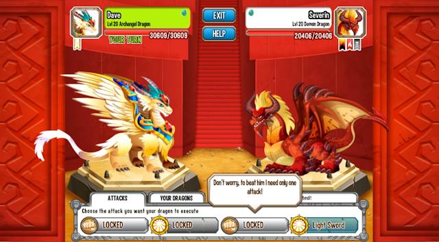 imagen de la batalla contra el dragon demonio