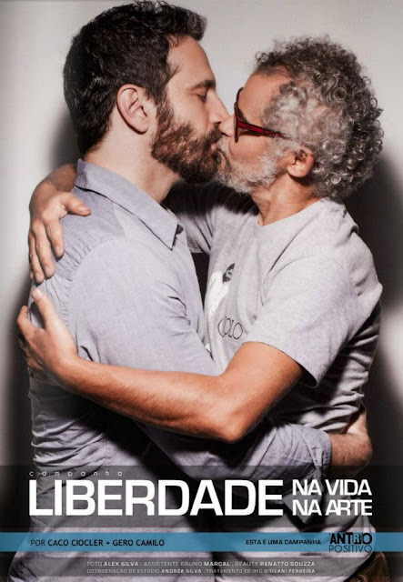 Caco Ciocler e Gero Camilo beijo Gay