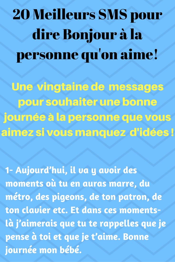 Sehr 20 SMS d'amour mignons pour souhaiter une Bonne journée | SMS d  ID81
