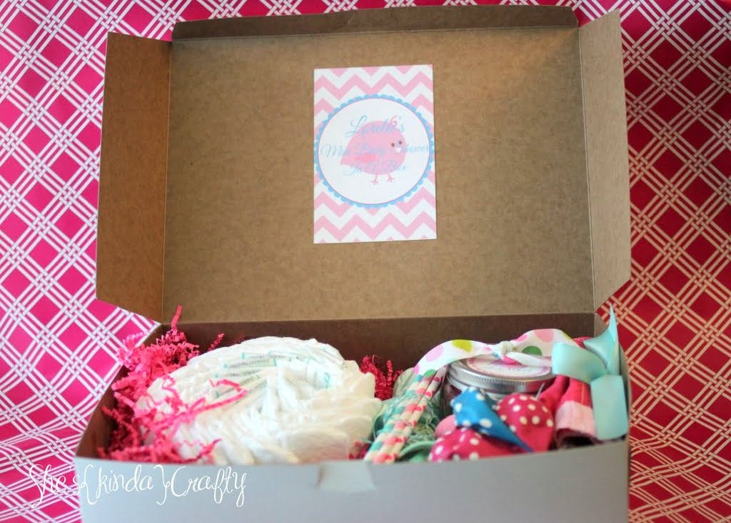 mini baby shower in a box shes kinda crafty