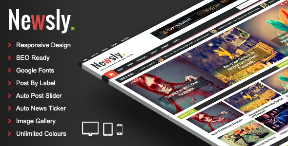 download Newsly - Responsive Multipurpose Blogger Template