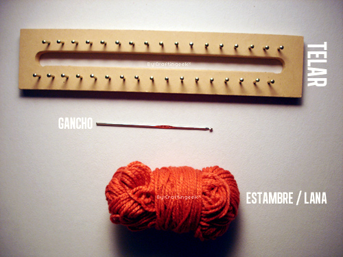 Como tejer en telar: Mi primera bufanda