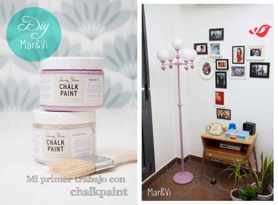 Lámpara renovada con Chalk Paint