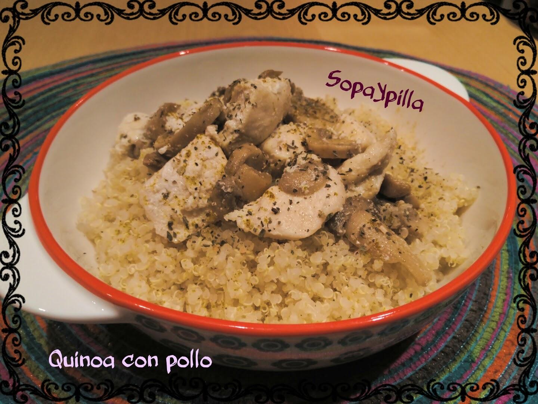 Sopaypilla quinoa con pollo y champi ones for Cocinar quinoa con pollo