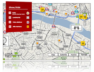 2014 London Marathon course map