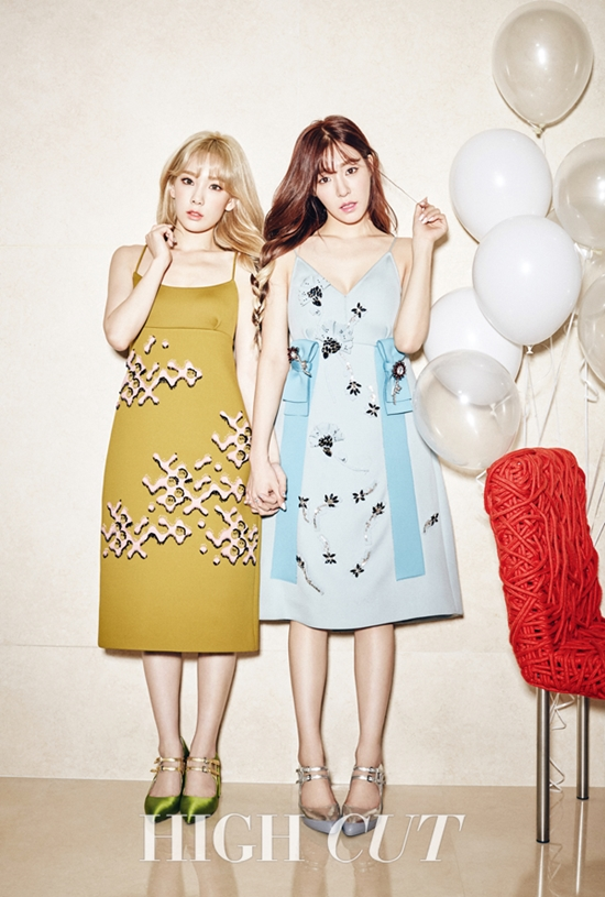 snsd taeyeon tiffany high cut magazine