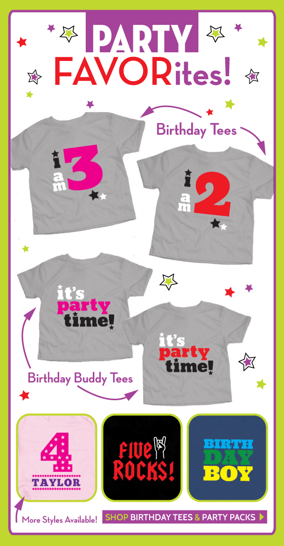 Personalized Birthday Tees for Babies and Kids