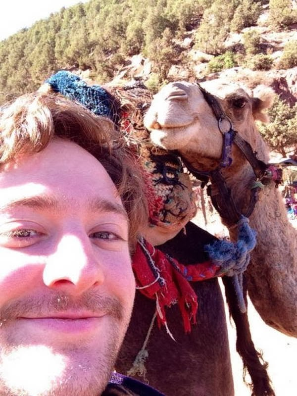 Funny animals of the week - 31 January 2014 (40 pics), camel takes a selfie with human
