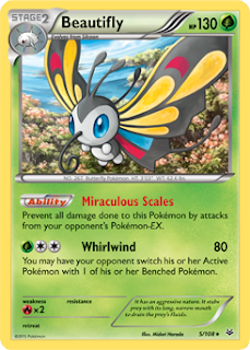 Beautifly Roaring Skies Pokemon Card
