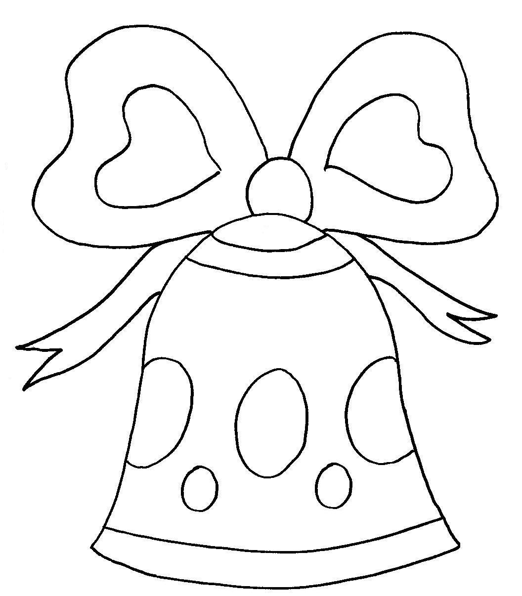 Dibujos para colorear de campanas de navidad trato o truco - Dibujos de navidad faciles ...