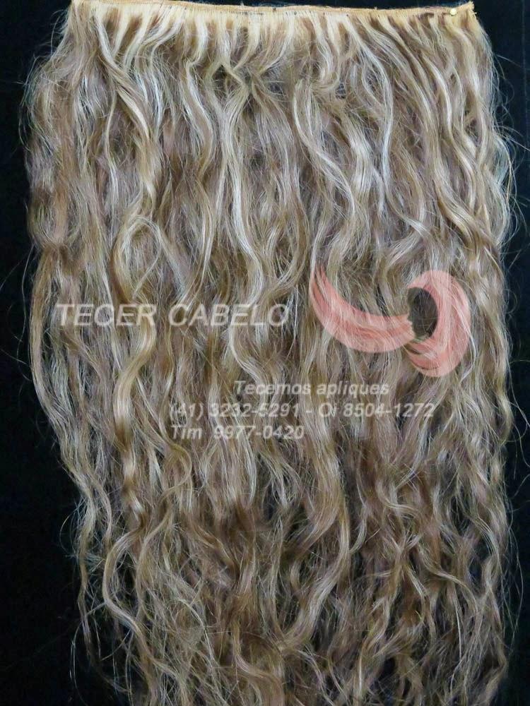 Aplique cabelo mechado -loiro com chocolate - Codigo (11)