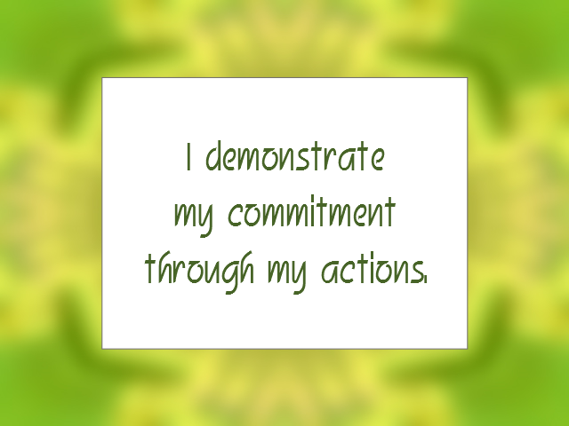 COMMITMENT affirmation