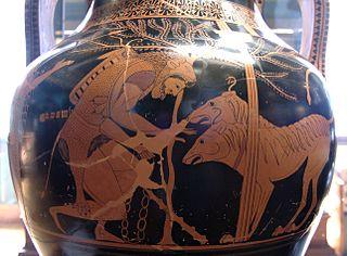 Hercules and Cerberus.