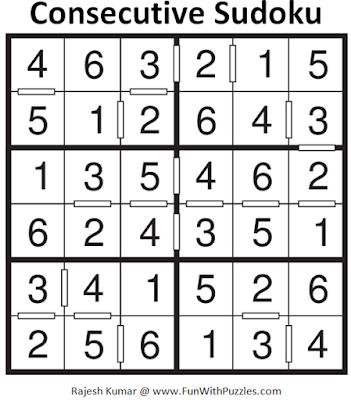 Consecutive Sudoku (Mini Sudoku Series #57) Solution