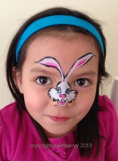 Easter bunny face painting tutorial Paint Savvy parties events