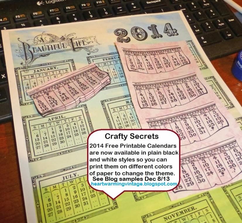Crafty Secrets Heartwarming Vintage Ideas And Tips: 2014 Free