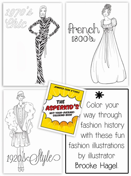 Science Coloring Book : Fabulous doodles fashion illustration blog by brooke hagel