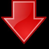 flecha roja hacia abajo, símbolo de la penalización al blog