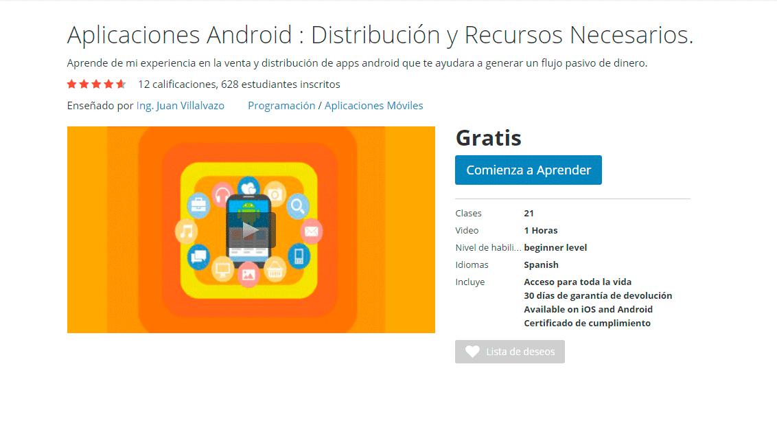 Curso Online Aplicaciones Android : Distribución y Recursos Necesarios