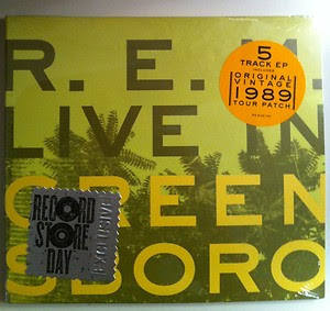 R.E.M. - Live in Greensboro CD EP Review (Record Store Day Release)