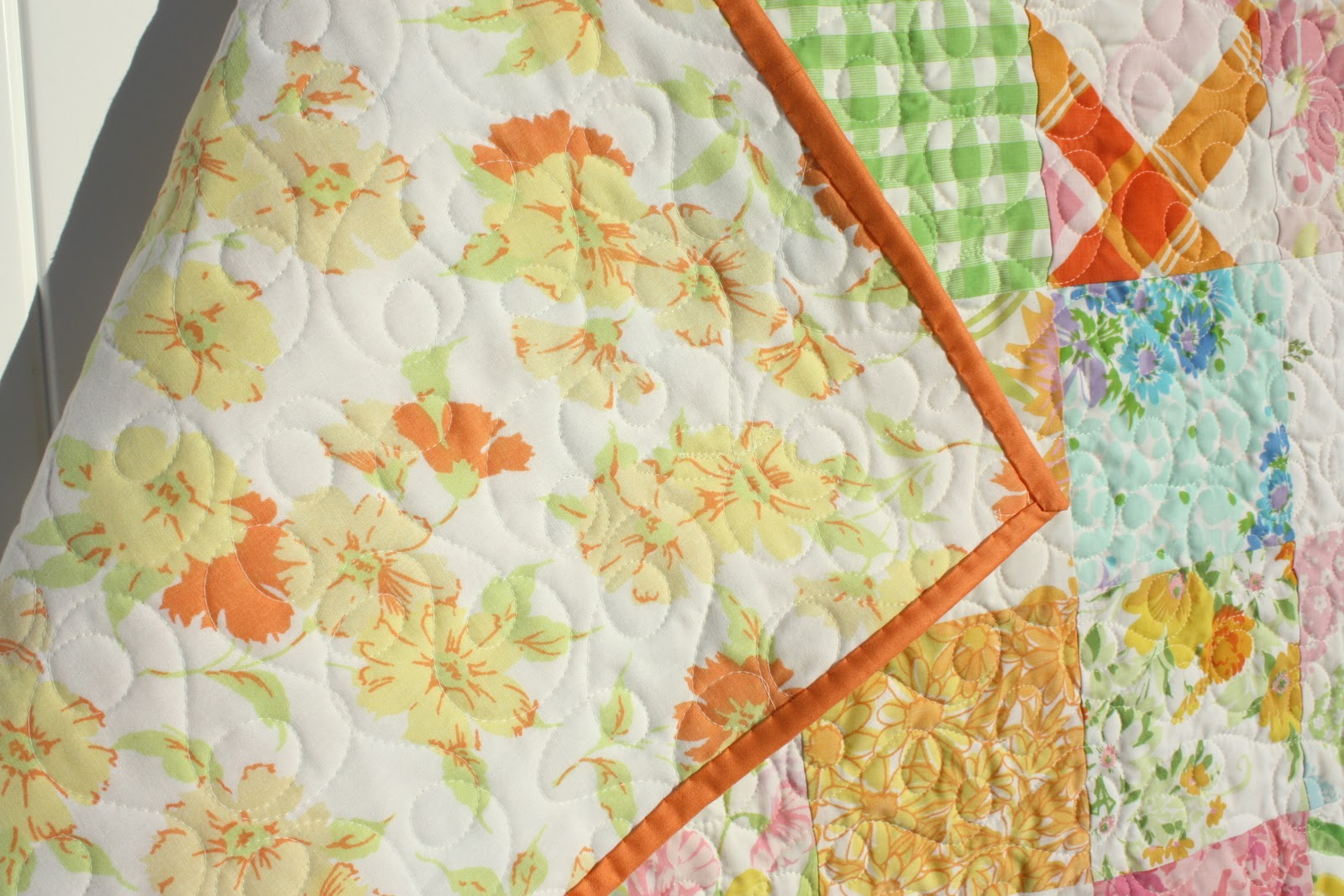Vintage Sheets Baby Quilt - Diary of a Quilter - a quilt blog