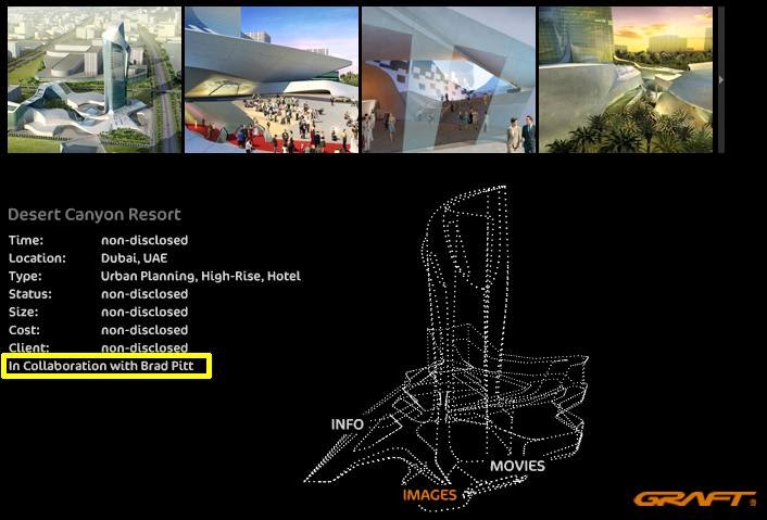 Inversión inmobiliaria donde participa Brad Pitt en la inspiración de los diseños