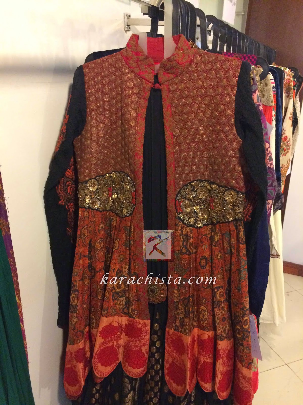embroidered jacket byIndian designer Anshu Jain