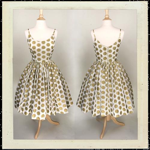 vintage prom dress gold