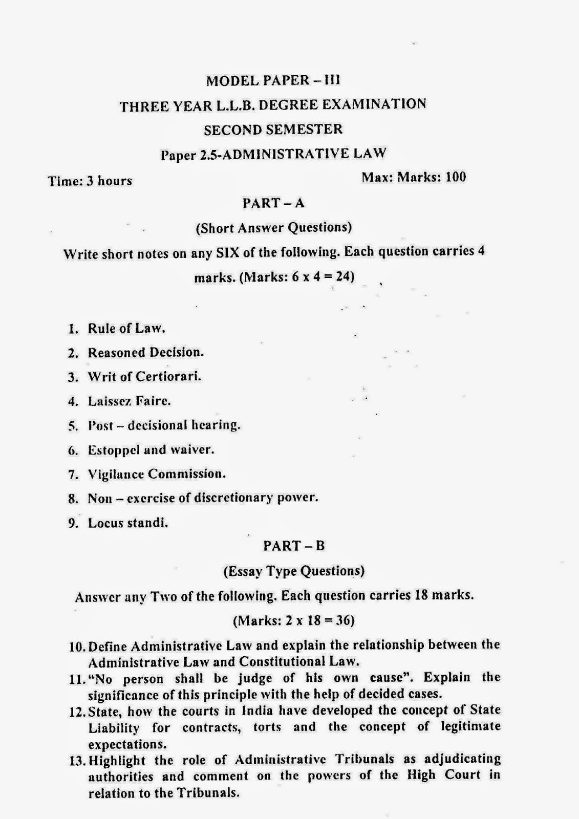 Papers about law