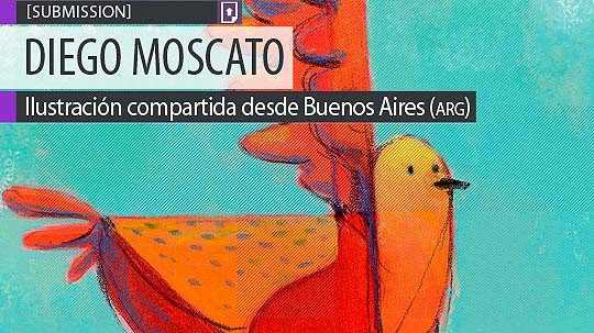 Ilustración. Pájaro de DIEGO MOSCATO