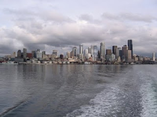 Grey Seattle skyline