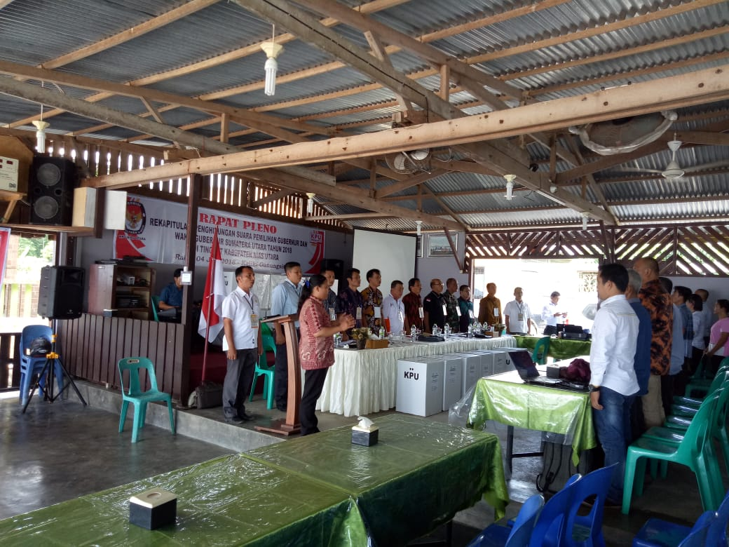 KPU Nias Utara Laksanakan Pleno Perhitungan Suara Pilgubsu