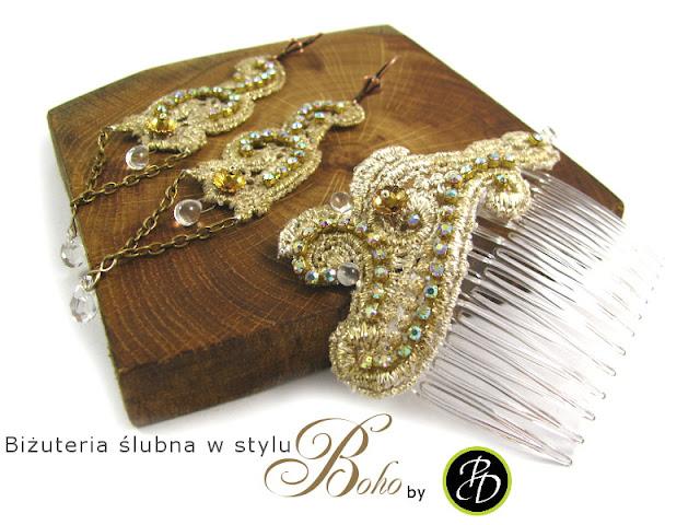 biżuteria ślubna dla panny młodej boho