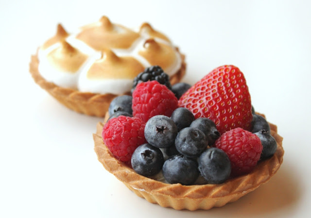 Fruit and Lemon Tarts for Easter