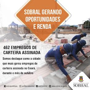 SOBRAL GERANDO OPORTUNIDADE E RENDA