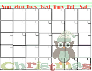 Free Printable Christmas Organizing Calendar