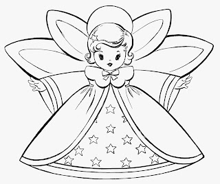 printable fairy mother christmas coloring pages for kids - Kids Drawing Sheets