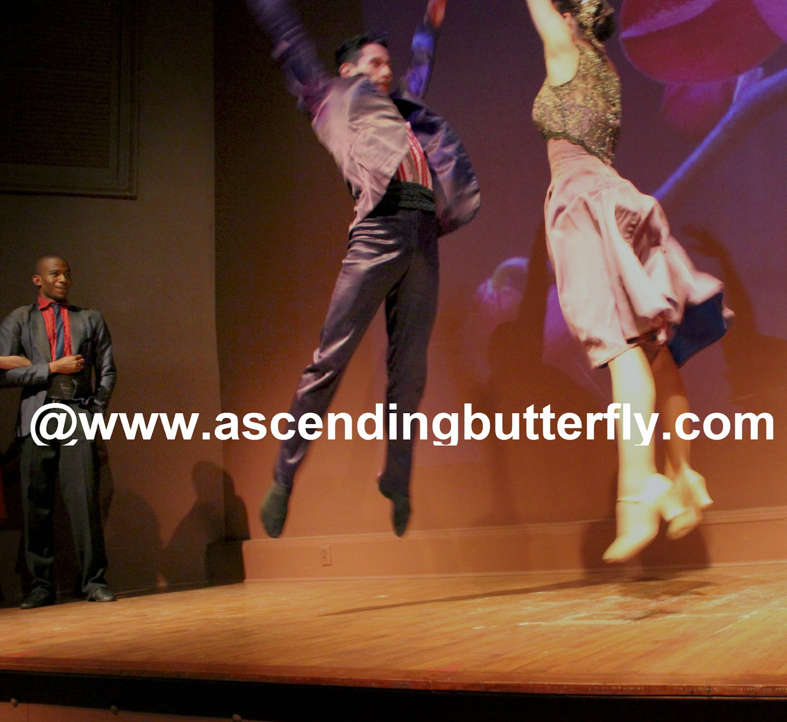 Ballet Hispanico BHdos, Dancer, Nicolay Espitia, and his dance partner in mid air!