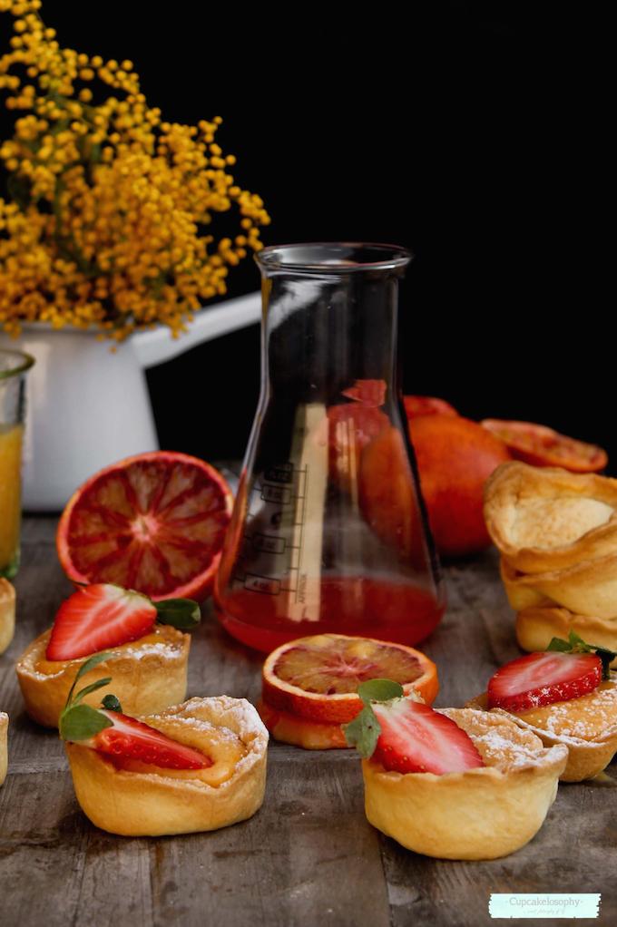 Receta de tartaletas de crema de naranja sanguina ( orange curd) con Thermomix
