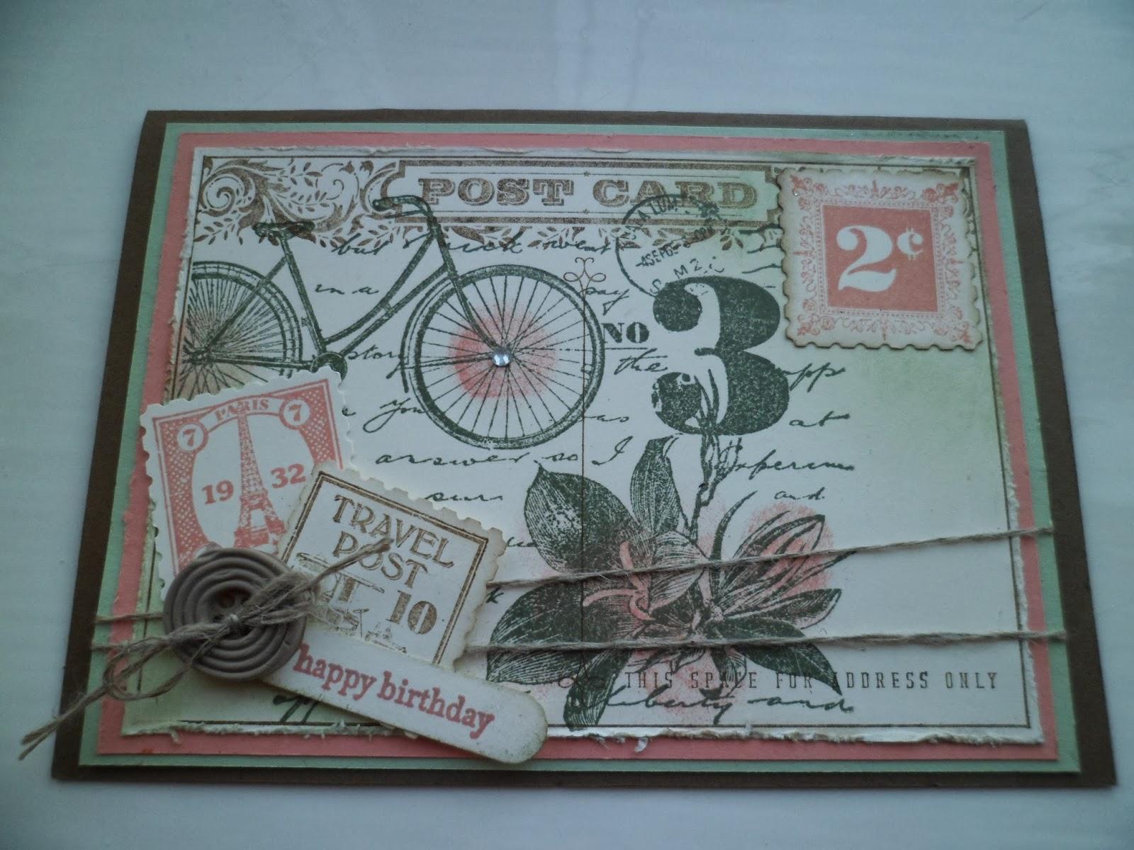 linda s craft room postage due postcard and secret garden twisted