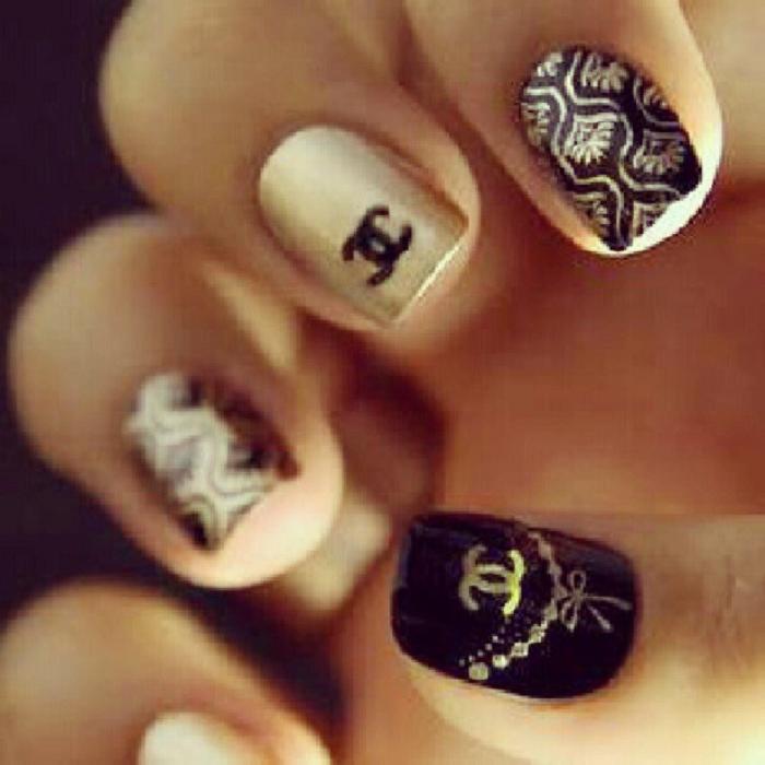 Nail design chanel nail arts chanel nails inspiration and manicure designs chanel nail design fashion beauty mix polish pinterest gorgeous chanel nail art nail designs nail prinsesfo Images