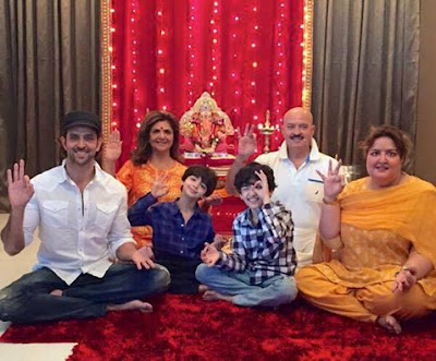 Hrithik Roshan celebrates Ganesh Festival at residence