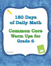 Daily Math for Grade 6