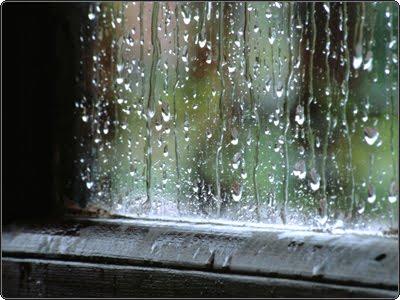 Lluvia sobre la ventana
