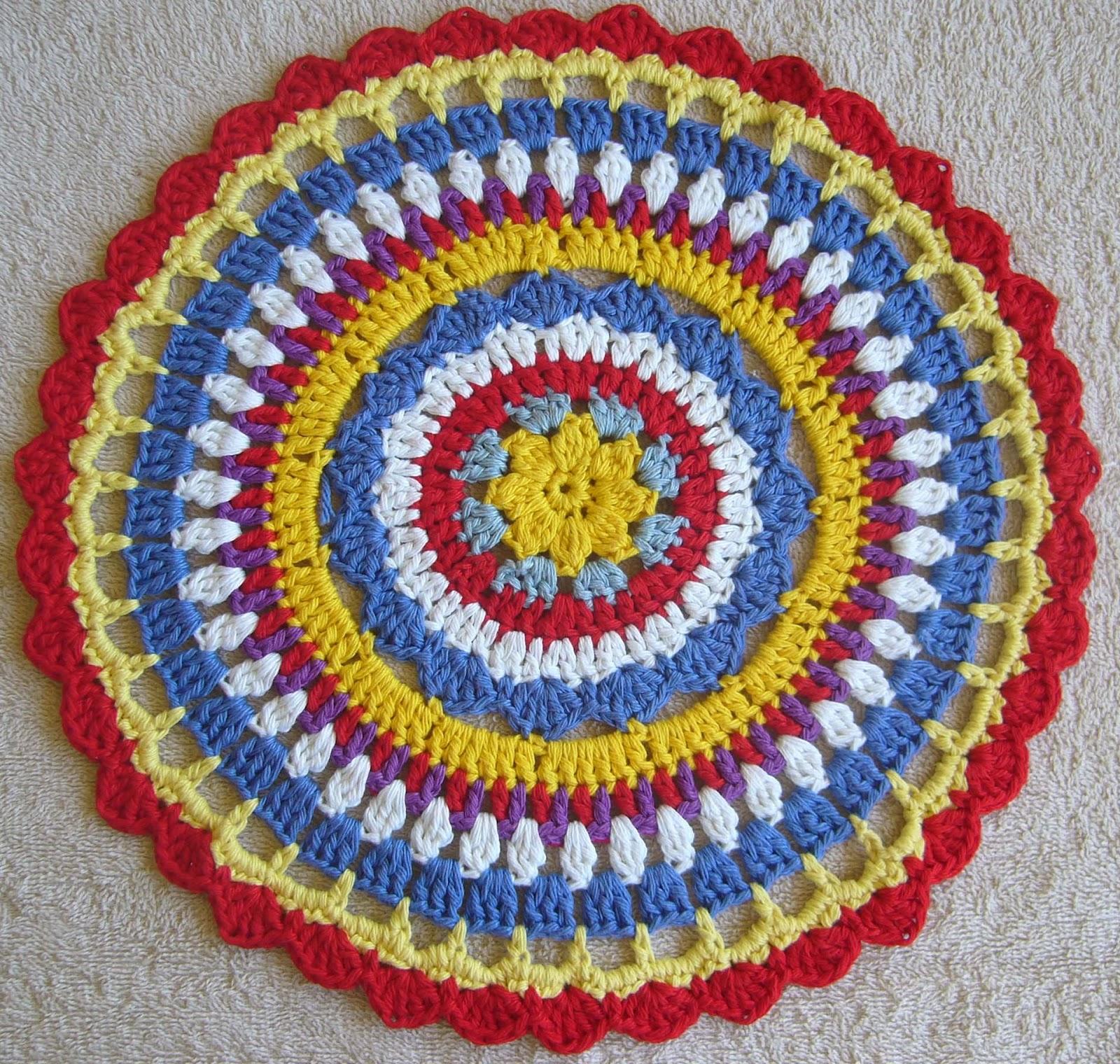 Crochet mandala vibrant