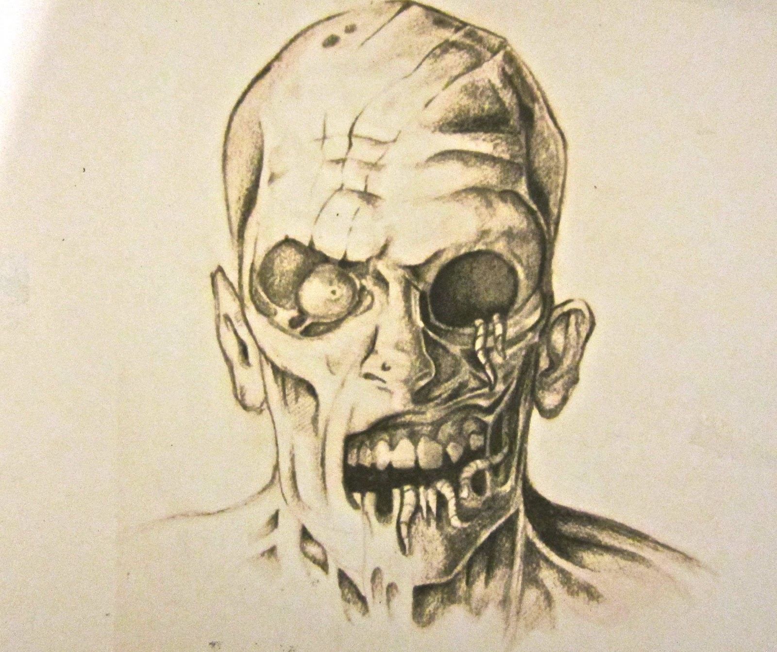 Zombie Face Line Drawing : Gallery inc zombie face