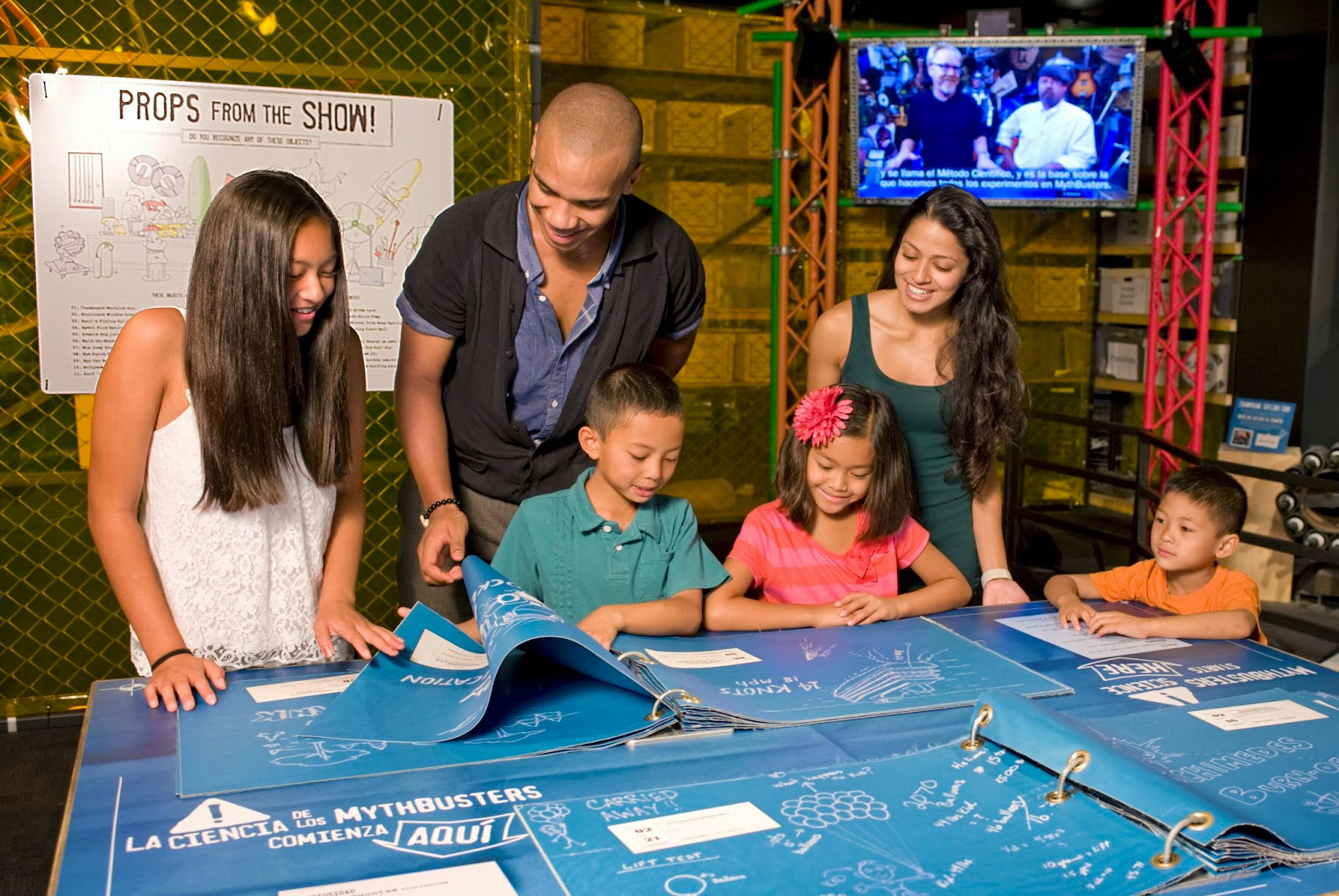 Macaroni kid visits the new exhibit mythbusters macaroni kid mythbusters iconic set this room acts as an introduction to mythbusting and is filled with gadgets props video and of course blueprints used by malvernweather Images