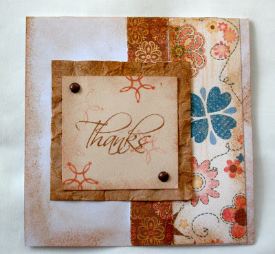 Clementine Thank You Card - Karen Care'